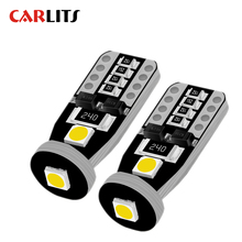 T10 Cold White 3SMD 5050 Led Car Light W5w 194 168 Bulbs DC 12V Wedge Lamp Turn Signal Light 2PCS License Plate Light Lamp Bulb aotomonarch 194 t10 led w5w white car super bright 2 smd automobile turn side license plate light lamp bulb led light lamp be