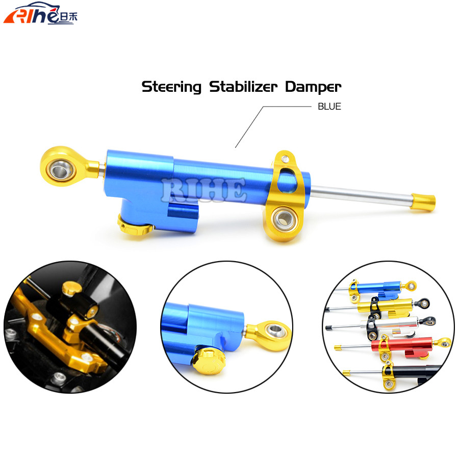 Steering Damper Universal Motorcycle CNC Stabilizer Linear Reversed Safety Control for victory HAMMER S KTM 1290 SUPER DUKE R 3 colors universal motorcycle steering damper black color cnc aluminum stabilizer linear reversed safety control motorcycle