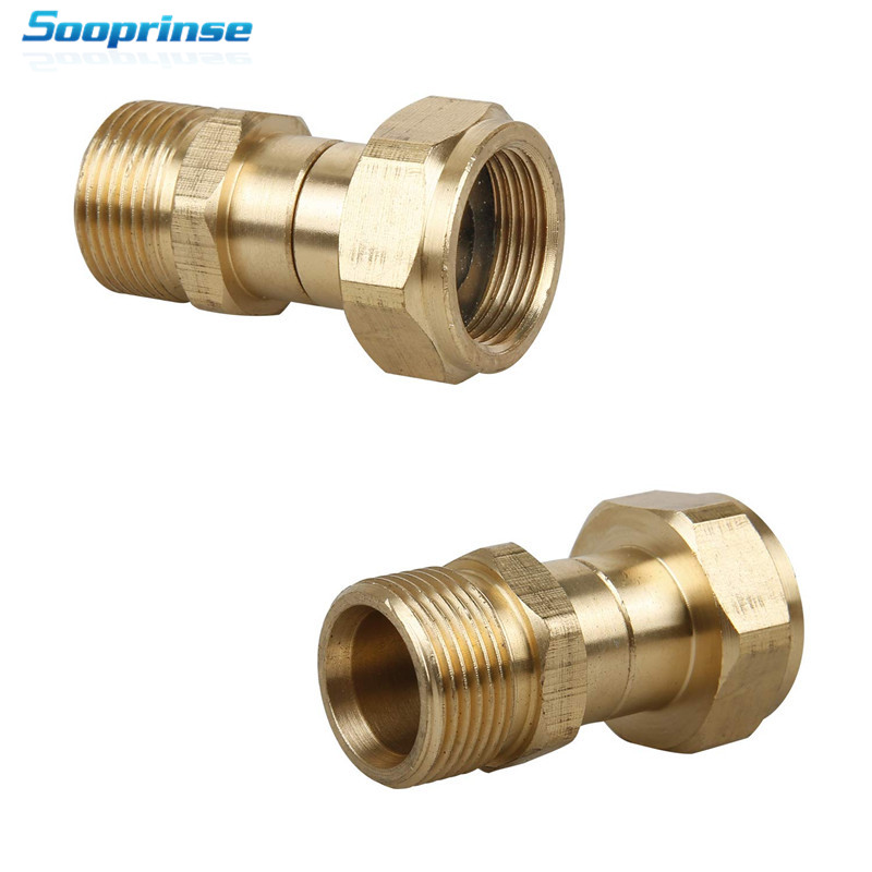Image 2 - Sooprinse High Pressure Washer Swivel Joint, Kink Free Gun to Hose Fitting, Anti Twist Metric M22 14mm Connection 3000 PSI 2019-in Water Gun & Snow Foam Lance from Automobiles & Motorcycles