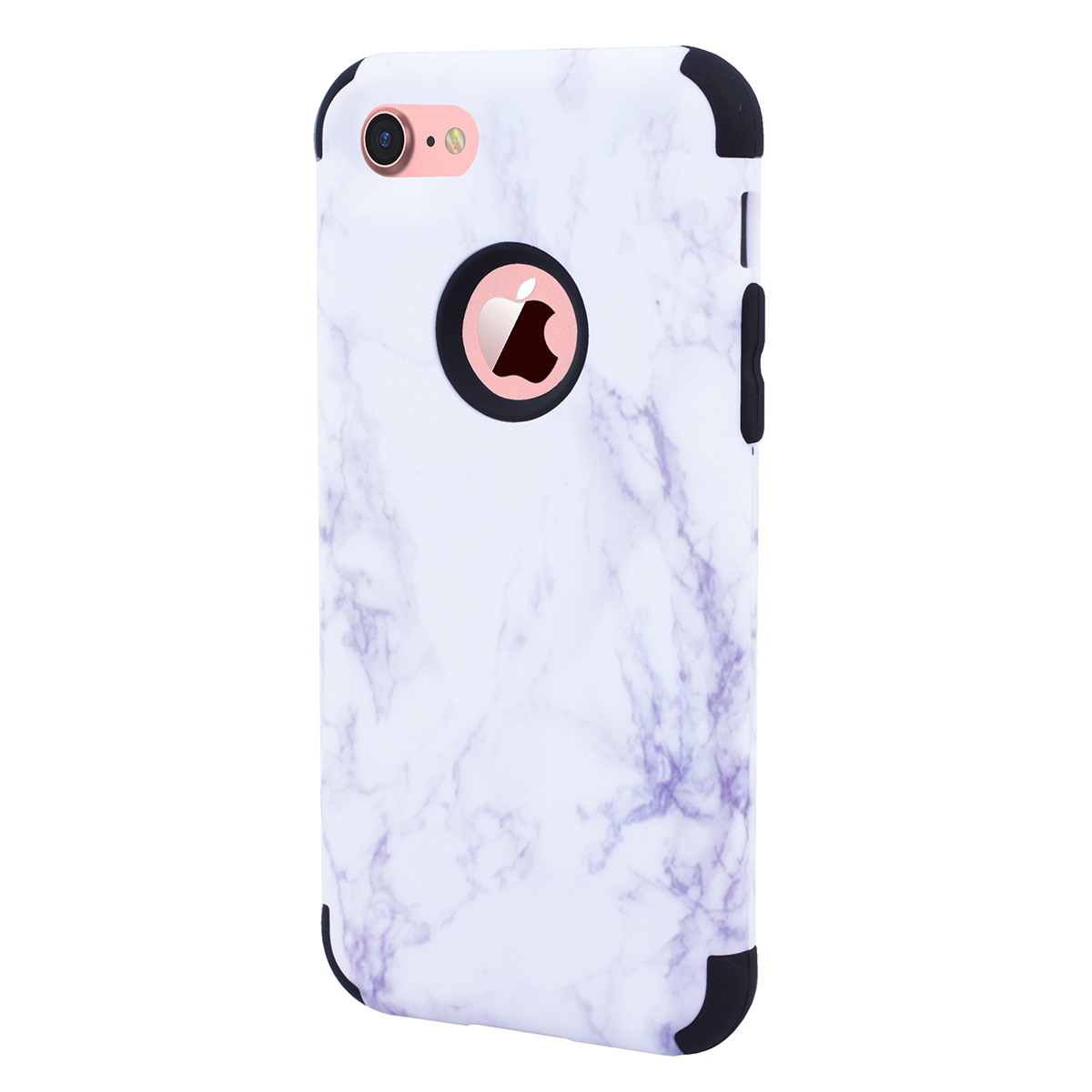Marble back case for iphone 7 GrandEver 360 full cover for iPhone 7 7 plus case Drop Protection Fitted Cover For iPhone7 plus