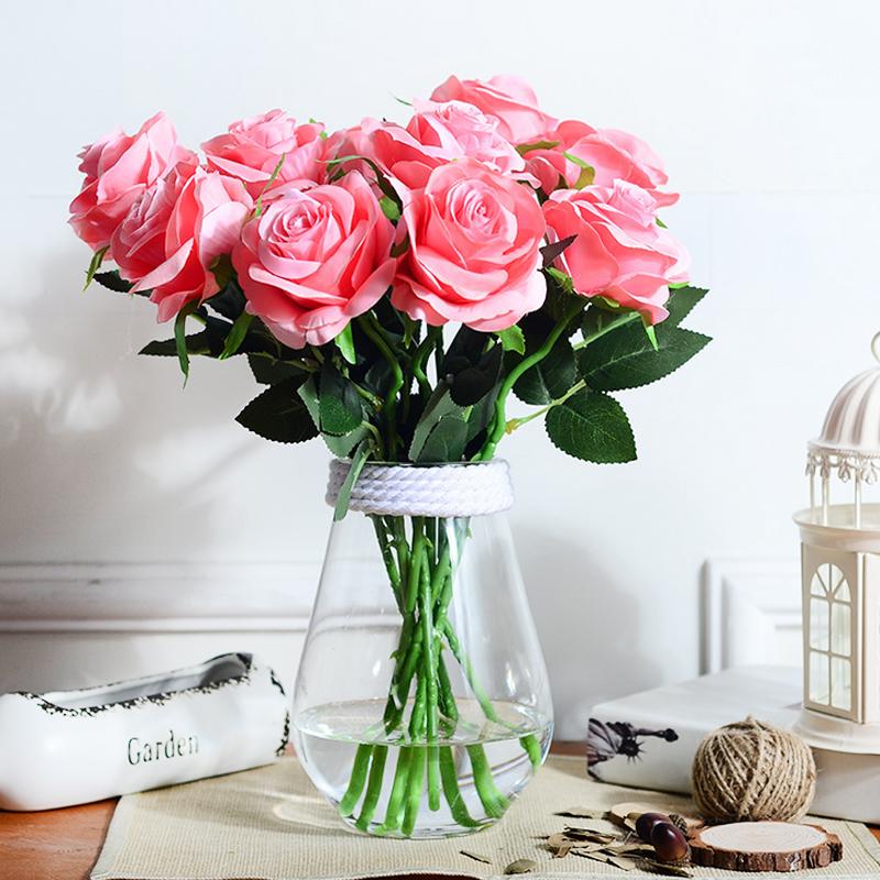5 unids simulacin rosas ramos de flores artificiales de seda decoracin del hogar fabricantes al por