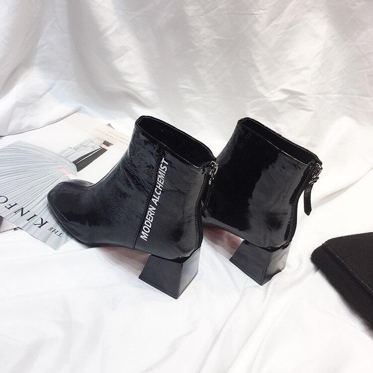 Automne noir Cheville Femelle 2018 Zapatos Bottes Dame Jookrrix Mode Noir  Chaussure Mujer De Martin Femmes Chaussures Nude Marque TxwFz aa9ec1f3df43