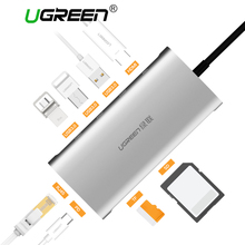 Ugreen Hub Chia Cổng USB C Sang HDMI VGA RJ45 PD Thunderbolt 3 Adapter Cho Macbook Samsung Galaxy S9 Huawei P20 pro Loại C USB 3.0