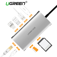 Ugreen USB HUB USB C to HDMI VGA RJ45 PD Thunderbolt 3 Adapter for MacBook Samsung Galaxy S9 Huawei P20 Pro Type C USB 3.0 HUB