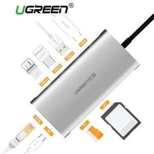 Ugreen Usb Hub Usb C Naar Hdmi Vga RJ45 Pd Thunderbolt 3 Adapter Voor Macbook Samsung Galaxy S9 Huawei P20 pro Type-C Usb 3.0 Hub
