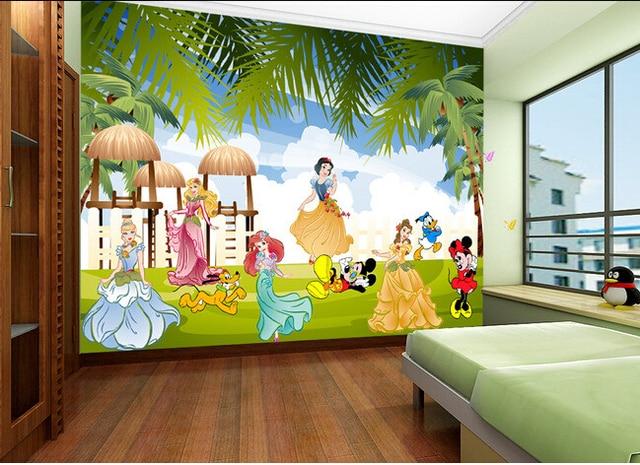Papel personalizado de pared infantil, murales de dibujos animados ...