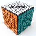 Shengshou 9 x 9 x 9 Cubo mágico quebra-cabeça preto e branco e primário de aprendizagem e de ensino Cubo magico brinquedos