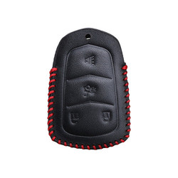 Leather Car Key pokrywy skrzynka dla Cadillac ATS CT6 CTS DTS XT5 Escalade ESV SRX STS XTS ELR 2014 2015 2016 2017 2018 ATS-L ATSL 28 T