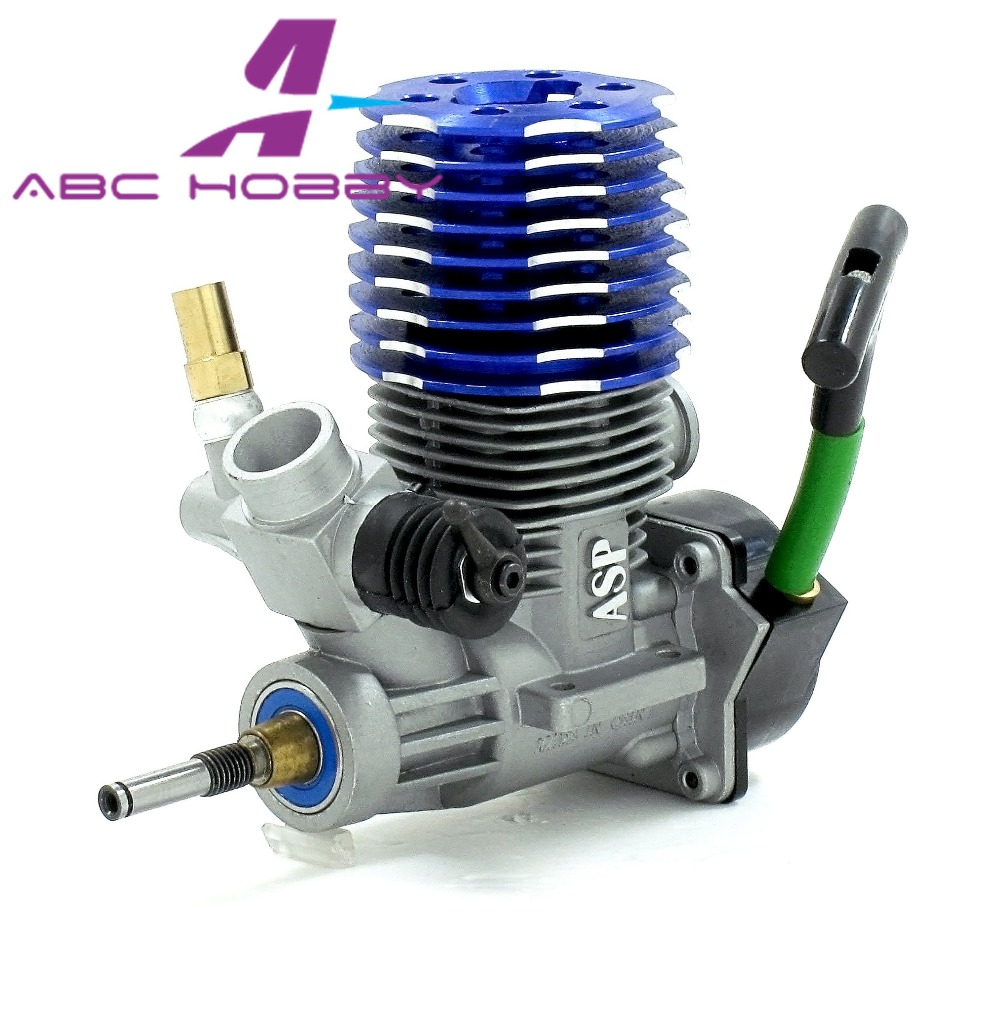 US $103 66 12% OFF|ASP 21CX Two Stroke 2 Stroke methanol Nitro Engine with  Pull Starter 3 5cc for 1/8 RC Car Model RC hobby RC toys-in Parts &
