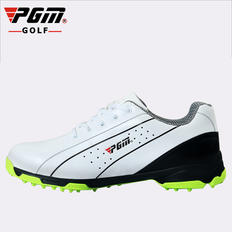 PGM Mens anti-slip patent golf shoes male breathable Genuine Leather golf Sneakers Fixed shoe spike waterproof sports shoesPGM Mens anti-slip patent golf shoes male breathable Genuine Leather golf Sneakers Fixed shoe spike waterproof sports shoes