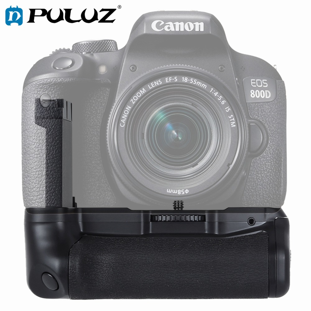 PULUZ Vertical Camera Battery <font><b>Grip</b></font> for Canon EOS 800D / Rebel T7i / <font><b>77D</b></font> image