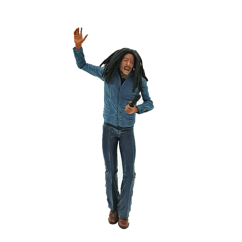 18cm Music Legends Bob Marley Figure Singer & Microphone PVC Action Figure Collectible Model Toy