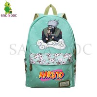 Anime Naruto Backpack Kakashi/Naruto Printed Laptop Backpack Flower Wave Point School Bags for Teenagers Girls Travel Bags