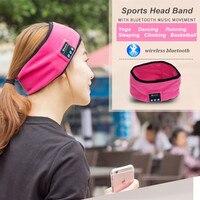 High-tech Bluetooth Femmes Hommes Sport Sueur Bandeau Bandeau De Yoga Gym Courir Écouter de La Musique Cheveux Bande Stretch