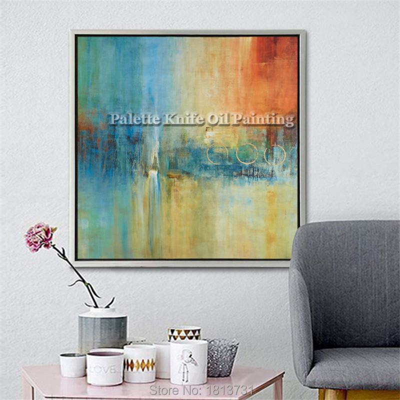 Hand painted canvas oil paintings Cheap large modern abstract oil painting wall decor Art pictures for bedroom for living room 4