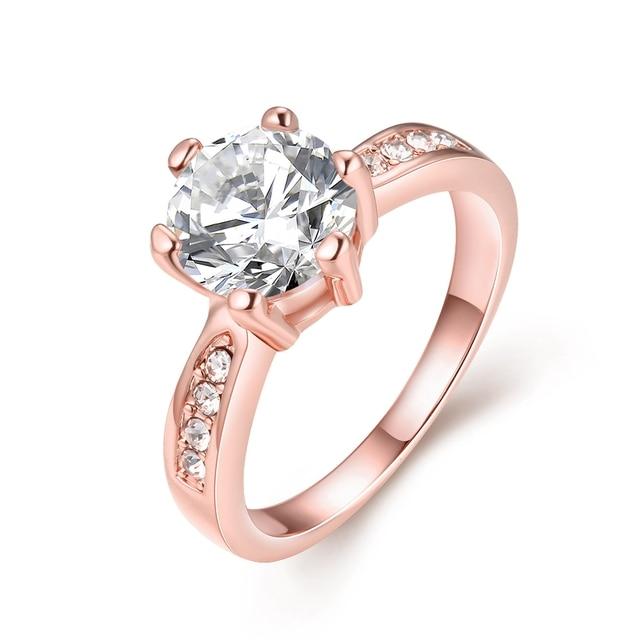 Rose Gold Wedding Rings For Women Big Stone Finger Ring Designs
