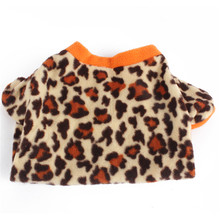 Pet Dog Coat Leopard Fleece Warm Fur Coat Dog Clothes Puppy T-shirt Jacket Costume Apparel(China)