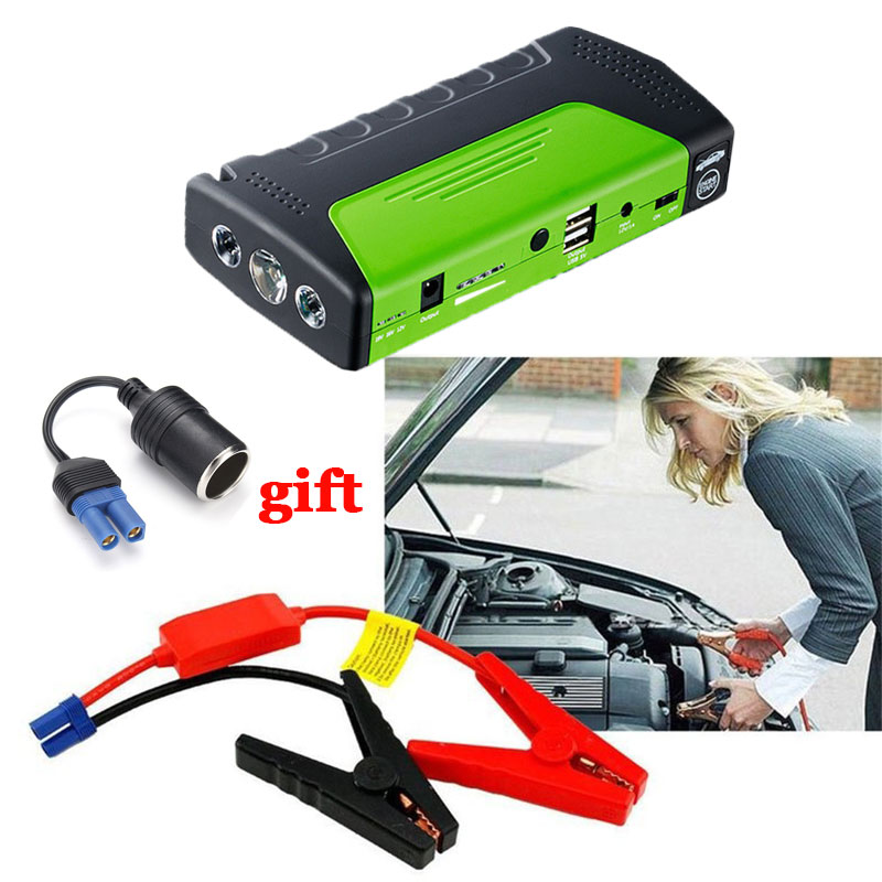 2018 New Sales promotion Multi-fuction Car Jump Starter Portable 12V Emergency Car Charger Battery Power bank Starting Device