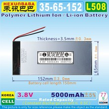[L508] 3.8 v, 3.7 v 5000 mah [3565152] PLIB; polimerowa litowo-jonowa/litowo-jonowy do tablet pc, bank zasilania, e-book(China)