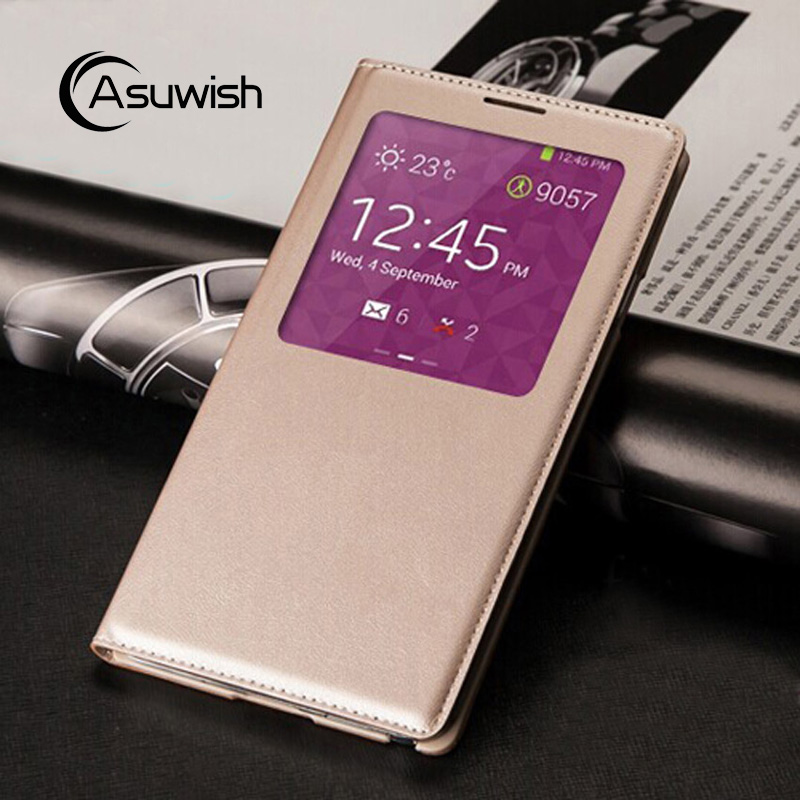Asuwish Flip Cover Leather Case For Samsung Galaxy Note 3