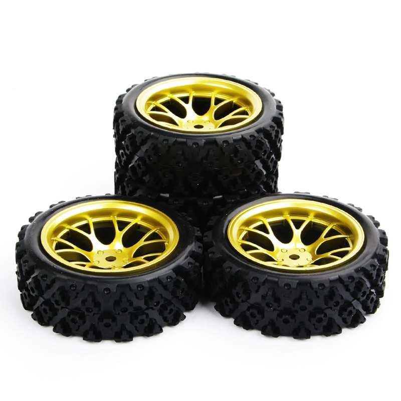 4pcs/set Racing Off Road Tires 12mm Hex Rubber Tyre Wheel Rim For RC 1:10  Vehicle Toys Accessories 1