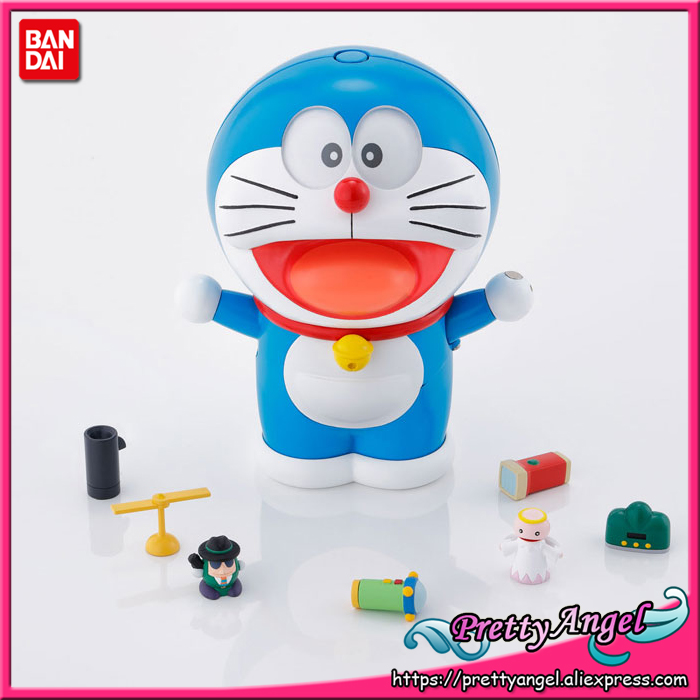 PrettyAngel - Genuine Bandai Tamashii Nations Chogokin GuruGuru Doraemon Action Figure комплект брызговиков передних novline autofamily для fiat linea 2007 2 шт