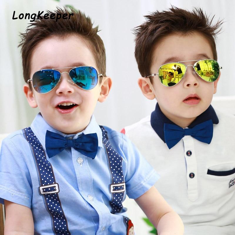 Brand Design Fashion Boys Sunglasses Kids Piolt Style Children Sun Glasses For Girls 100%UV Protection Glasses Oculos Gafas