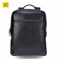 Xiaomi 90 Points Men Backpack High Quality PU Leather 14 Inches Casual Travel Laptop Rucksack Fashion