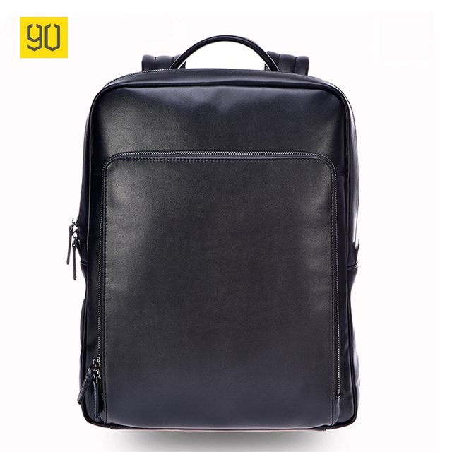 9cecc0db1e11 US $161.99 |Xiaomi 90 Fun Men Backpack High Quality PU Leather 14 Inches  Casual Travel Laptop Rucksack Fashion Business School Bag Black-in  Backpacks ...