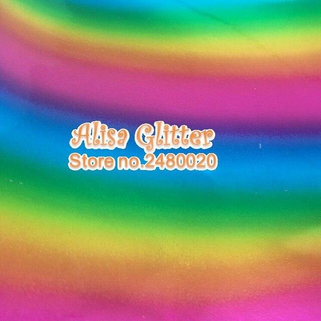 3 STKS 21X29 cm Alisa Glitter Holografische Spiegel Lakleer Regenboog Pu  lederen Stof Voor Boog DIY 4242b2217818