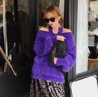 Новые оригинальные норки кашемировый свитер женщин норки кашемира пуловеры с воротником под горло Бесплатная доставка S18925