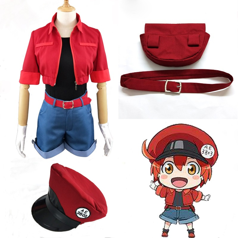 Cells At Work Erythrocite Red Blood Cell Orange Red Cosplay