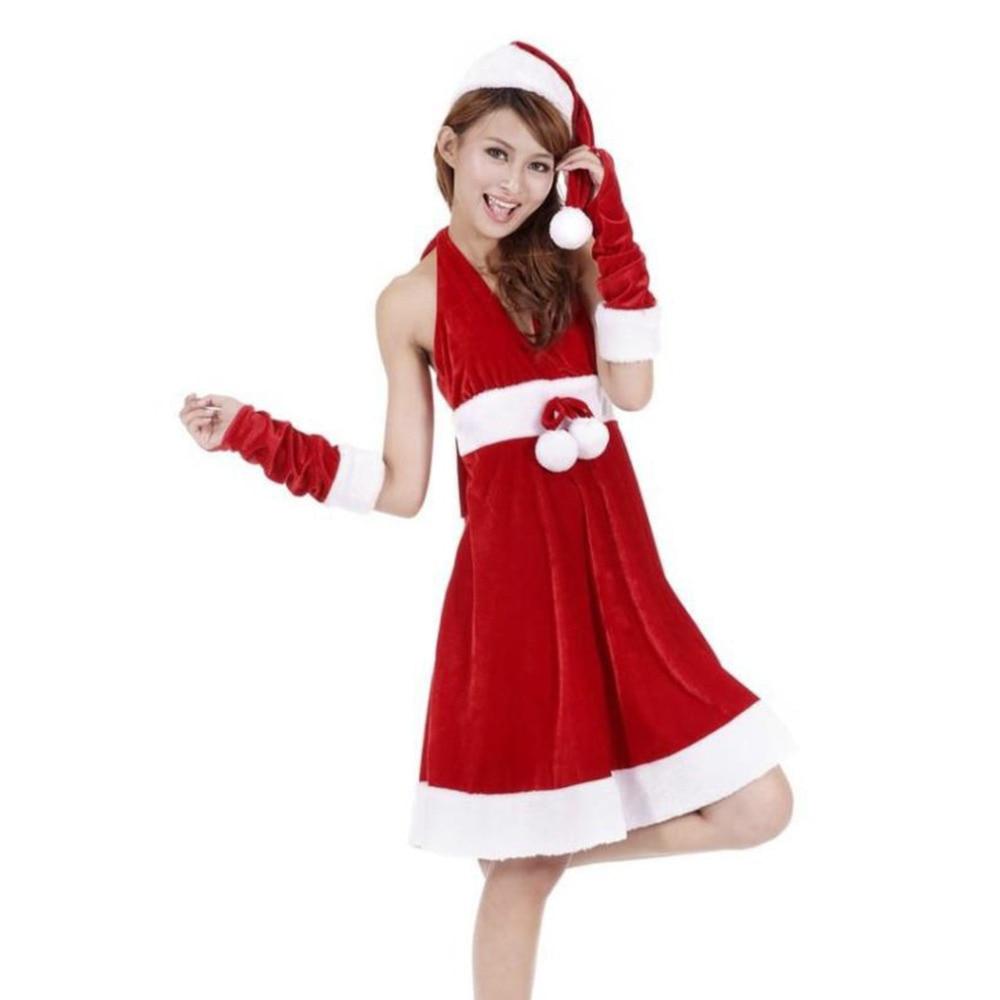 Costume Santa Sexy Christmas Party Dress
