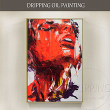 New Arrivals Hand-painted High Quality Special Abstract Portrait Oil Painting on Canvas