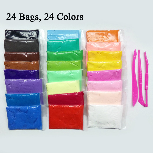 12 24 colors slime clay magic plasticine polymer clay air dry