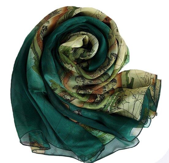 100% pur soie underscarf hijab cap écharpe imprimé carte internationale designs marque châle wrap livraison gratuite grand carré foulards