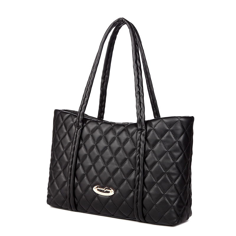 ФОТО Women Fashion Leather Handbags High Capacity Diamond Lattice Shoulder Bags Famous Brand Totes for Shopping and Office