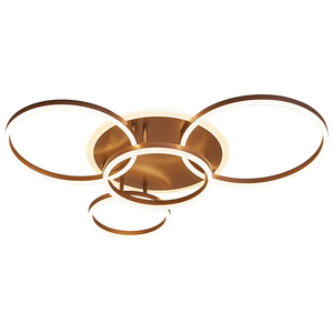 Image 5 - Remote Controller 2/3/5/6 Circle Rings Modern led Chandelier For living Room Bedroom Study Room White/Brown Color Chandelier