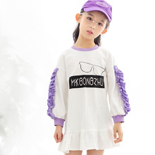 Girls dress 2019 spring and autumn new fashion style long-sleeved 3-10 years childrens clothing