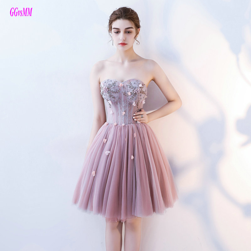 Brilliant Colorful Short   Prom     Dresses   2019 New Sexy   Prom     Dress   Custom Made Tulle Appliques Beading Kenn-Length   Prom   Party Gowns