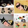 Ganchillo bebé fotografía atrezzo bebé recién nacido super hero batman outfit ropa disfraz batman infantil chicos a casa 1 Unidades
