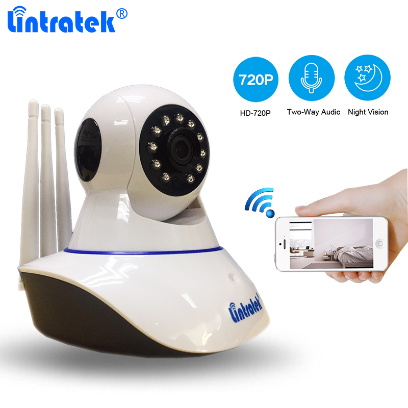 Lintratek Home Surveillance Security Camera HD 720P IP Camera Onvif P2P Baby Monitor IR Night Vision Yoosee Wireless Wifi Camera цены онлайн