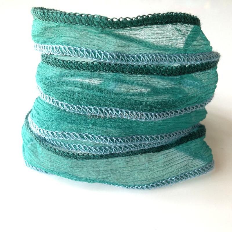 Joyas de yoga Pulseras hechas de seda real Pulseras de envoltura de - Bisutería - foto 2