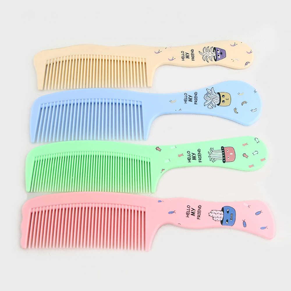 4 цвета Экологичная полимерная расческа мультяшная Расческа с широкими зубчиками щетка для волос Natuurlijke Veilig для ухода за детьми инструмент для укладки волос