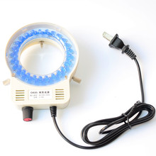 52 Microscope Blue Ring Light LED Ring Light Illuminator with Dimmer for Stereo Microscope rotating led adjustable brightness led inside microscope ring light white blue red yellow violet light