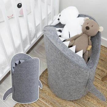 Cartoon Shark Shape Foldable Kids Room Toys Storage Bag Dirty Clothes Basket Laundry Barrel Sundries Classification Organizer фото