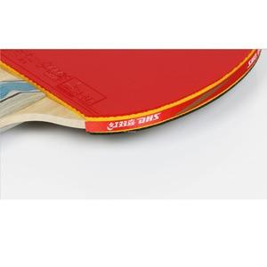 Image 4 - DHS 6002 טניס שולחן מחבט עם כיסוי טניס גומי מקצועי אימון פינג פונג מחבטי ההנעה חג המולד מתנה
