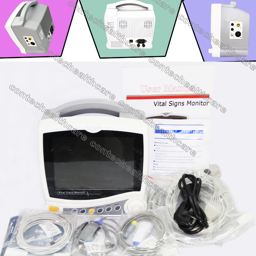 CE&FDA 8.4-inch 6 parametro Monitor paziente - NIBP SPO2 ECG RESP TEMP PR CONTEC краска matrix color sync 7m блондин мокка 90мл