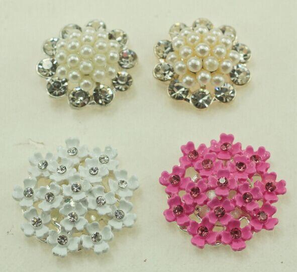 Petal Pearl Embellishment Button For Wedding Invitation Cards  Decoration(MOQ:20/lot(