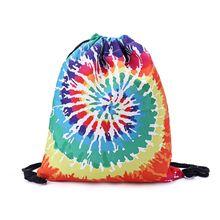 3D Printing Drawstring Backpack Bag String Sackpack Outdoor Sports Travel Cinch Sack-X5XD